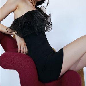 NWT Zara Organza Ruffle Dress